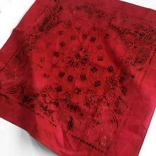 Load image into Gallery viewer, Deep Red Distressed Bandana