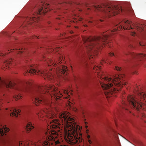 Deep Red Distressed Bandana