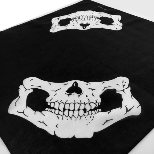 Double Half Skull Bandana Face Mask