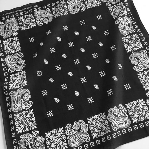 Black & White Square Border Bandana