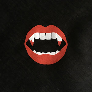 Red Lips Vampire Fangs Bandana Face Mask
