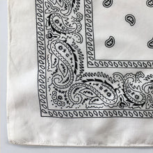 Load image into Gallery viewer, White Paisley Bandana