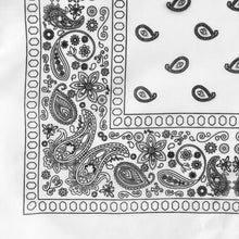 Load image into Gallery viewer, White Floral Paisley Bandana