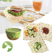 Load image into Gallery viewer, Biodegradable Beeswax Food Wraps (3 Pack)