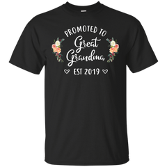 Promoted to Great Grandma Est 2019 T-Shirt