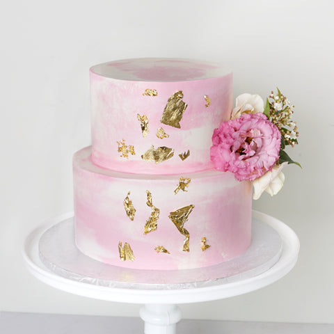 Cake Decorating - Tiered Watercolour Cake