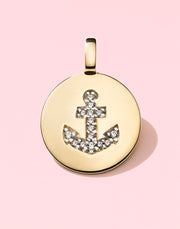 "CHARMBAR ""Be Strong"" Anchor Charm in Vermeil"