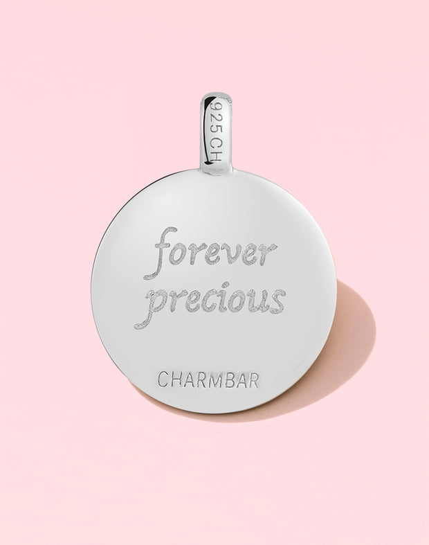 "CHARMBAR ""Forever Precious"" Footprint Charm in Sterling Silver"