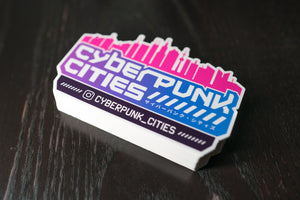 Cyberpunk Cities Sticker