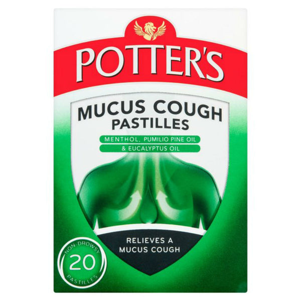 Potters Mucus Cough Pastilles 20