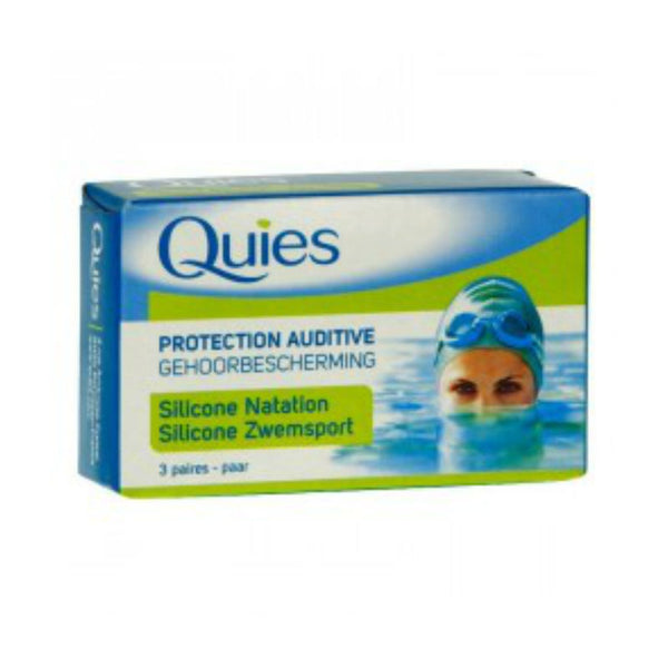 Quies Swimming Ear Plugs Adult 3 Pairs