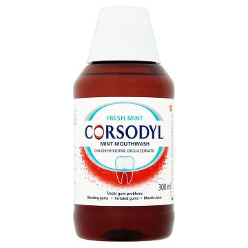 Corsodyl Fresh Mint Mouthwash 300ml