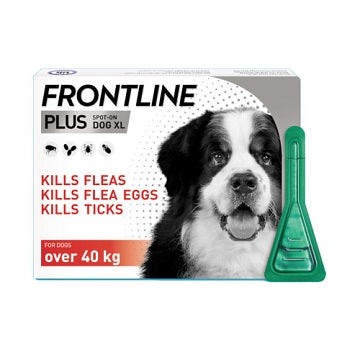 Frontline Plus Dog Flea & Tick Treatment 3 Pack - 40+kg