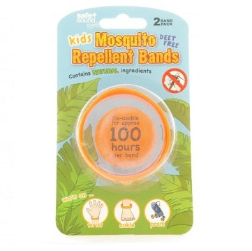 Safe & Sound Kids Mosquito Repellent Bands 2 Pack