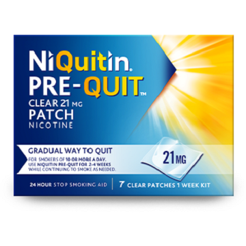 NiQuitin Pre-Quit Clear Patch 21mg x7 Patches