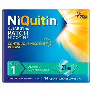 NiQuitin Step 1 Clear Patch 21mg x14 Patches