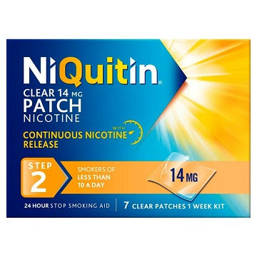 NiQuitin Step 2 Clear Patch 14mg x7 Patches