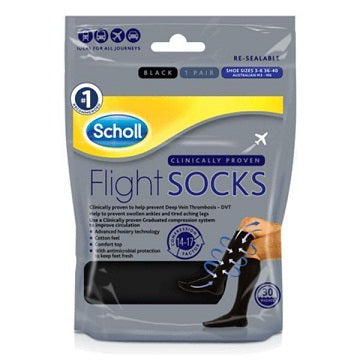 Scholl Black Flight Socks Size 3-6
