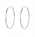 Sterling Silver Hoop Earrings (Large)