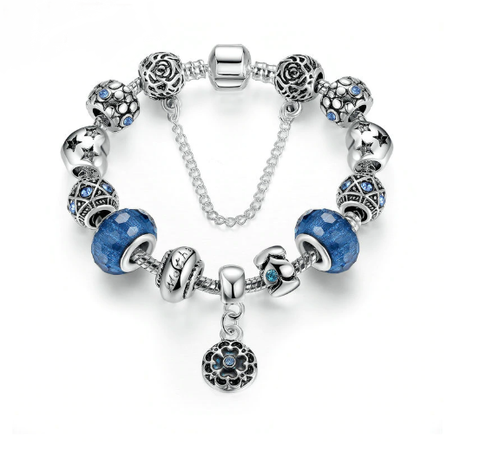 Blue Starry Night Charm Bracelet - TheMinimalistLotus
