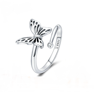 Sterling Silver Butterfly Ring - TheMinimalistLotus