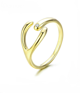 Wishbone Gold Ring - TheMinimalistLotus