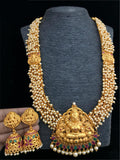 Goddess Laxmi Designed Temple Necklace