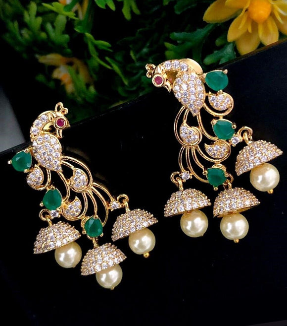 AD Sparkling Peacock Earrings