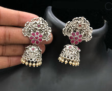 Load image into Gallery viewer, Silver Ghumar Style Zhumkhi Earring