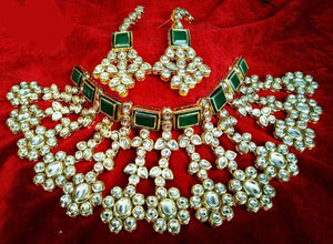 Green Kundan Bridal Set
