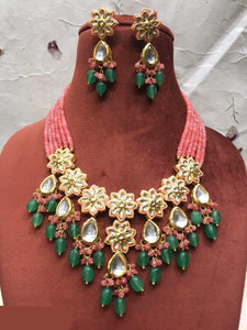 Exclusive Designer Meenakari Kundan and Beads Necklace