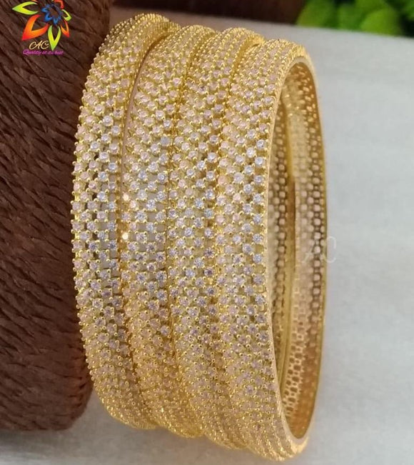 Golden Diamond Bangle Set