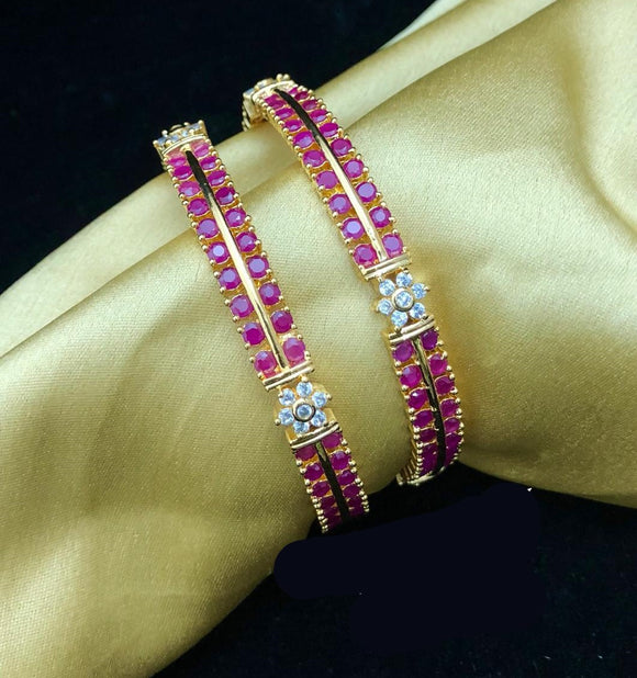 Gold Finishing CZ Bangles