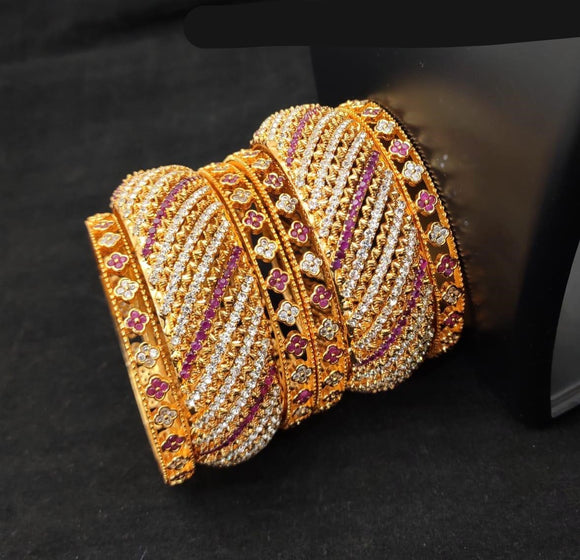 Micro Gold Polish Bangle Set