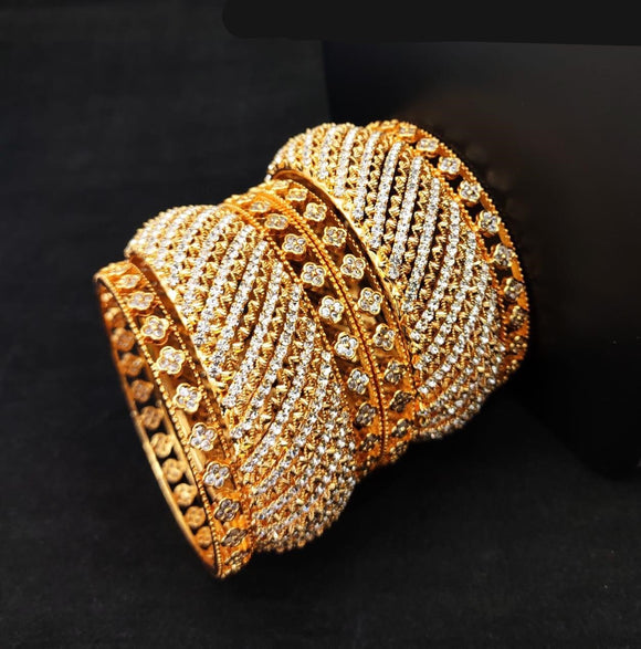 Micro Gold Polish Bangles Set