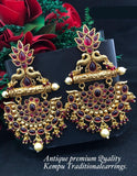 Traditional Earrings with Kemp Stone