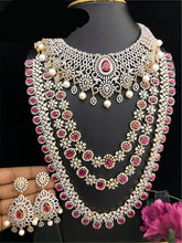 Load image into Gallery viewer, CZ Diamond South Indian Fashion Bridal Jewelry Collection
