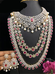 CZ Diamond South Indian Fashion Bridal Jewelry Collection