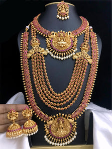 South Indian Fashion Temple Jewelry Combo