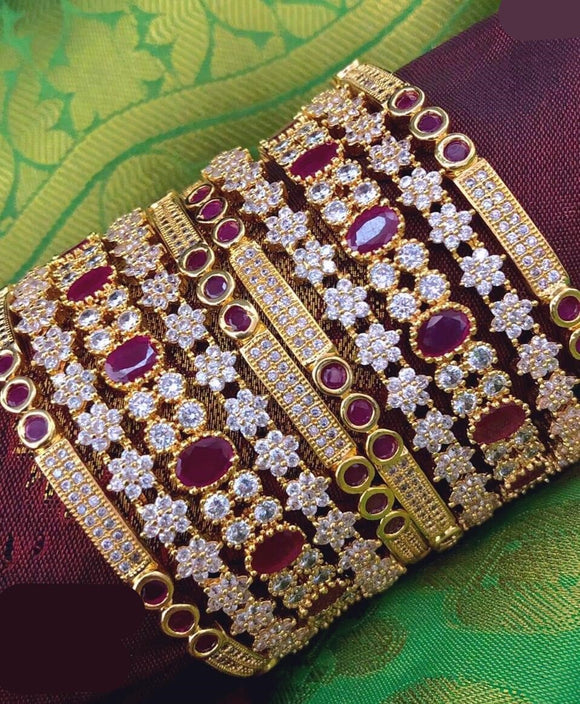 AD Stone Bangles Collection