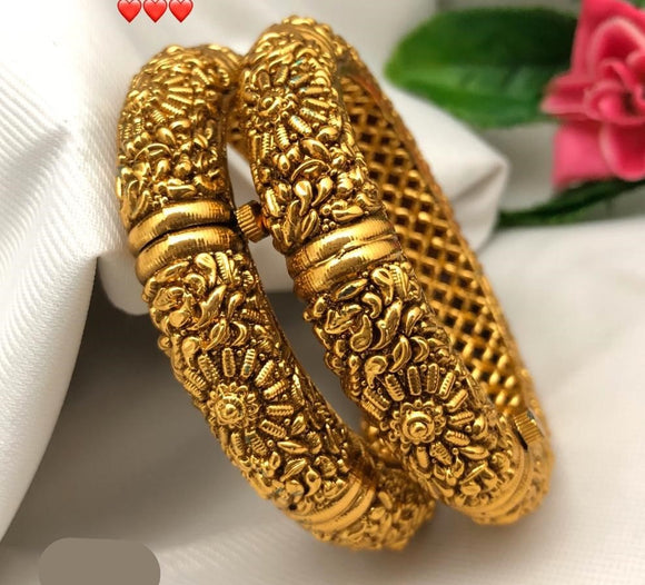 Gold Matte Finish Bangles