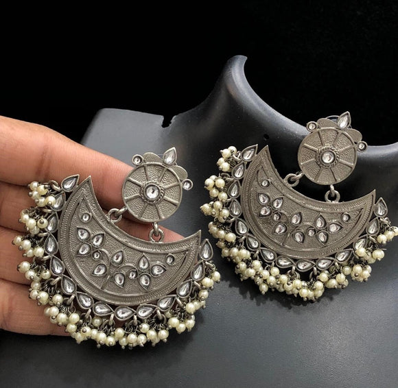 Pure German Silver Earrings
