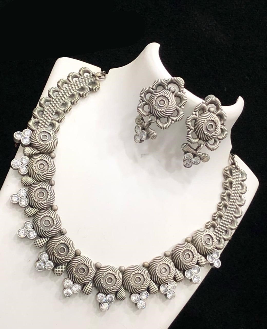 German Silver Short Necklace