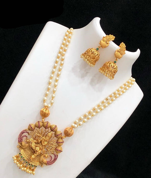 Lord Krishna Pendant Necklace