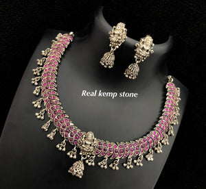 Real Kemp Stone Temple Necklace