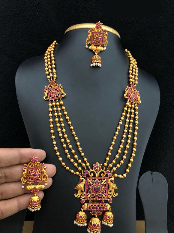 Chandbali Haram Necklace In Golden And Silver Collection
