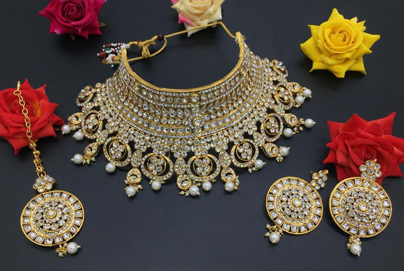 Exclusive Designed Kundan Bridal Choker Necklace