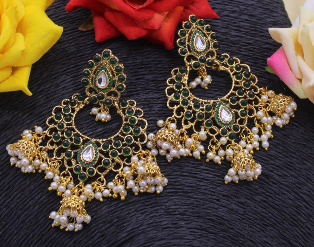 Beads Earring With Little Jhumkhi