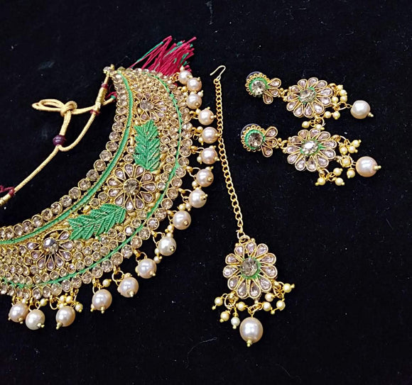 Meenakari Kundan Choker Necklace Set