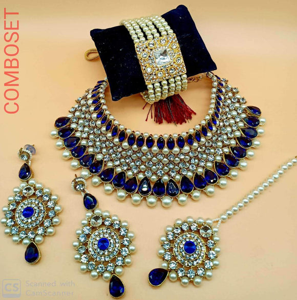 Kundan And Beads Choker Set